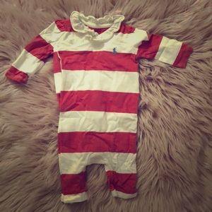 Ralph Lauren striped girls onesie size 3 months